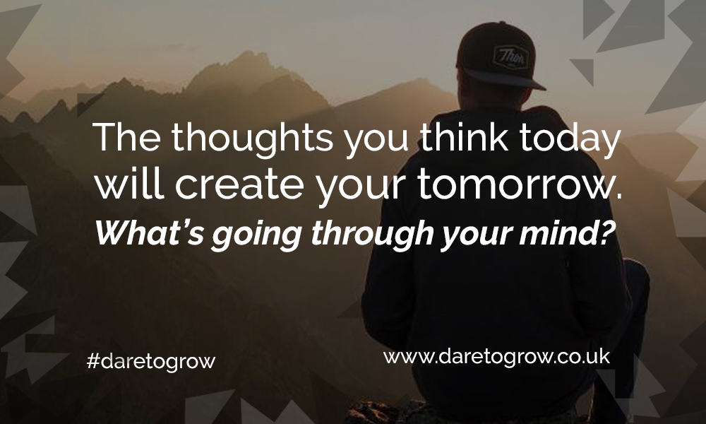Motivational quote - the thoughts you think