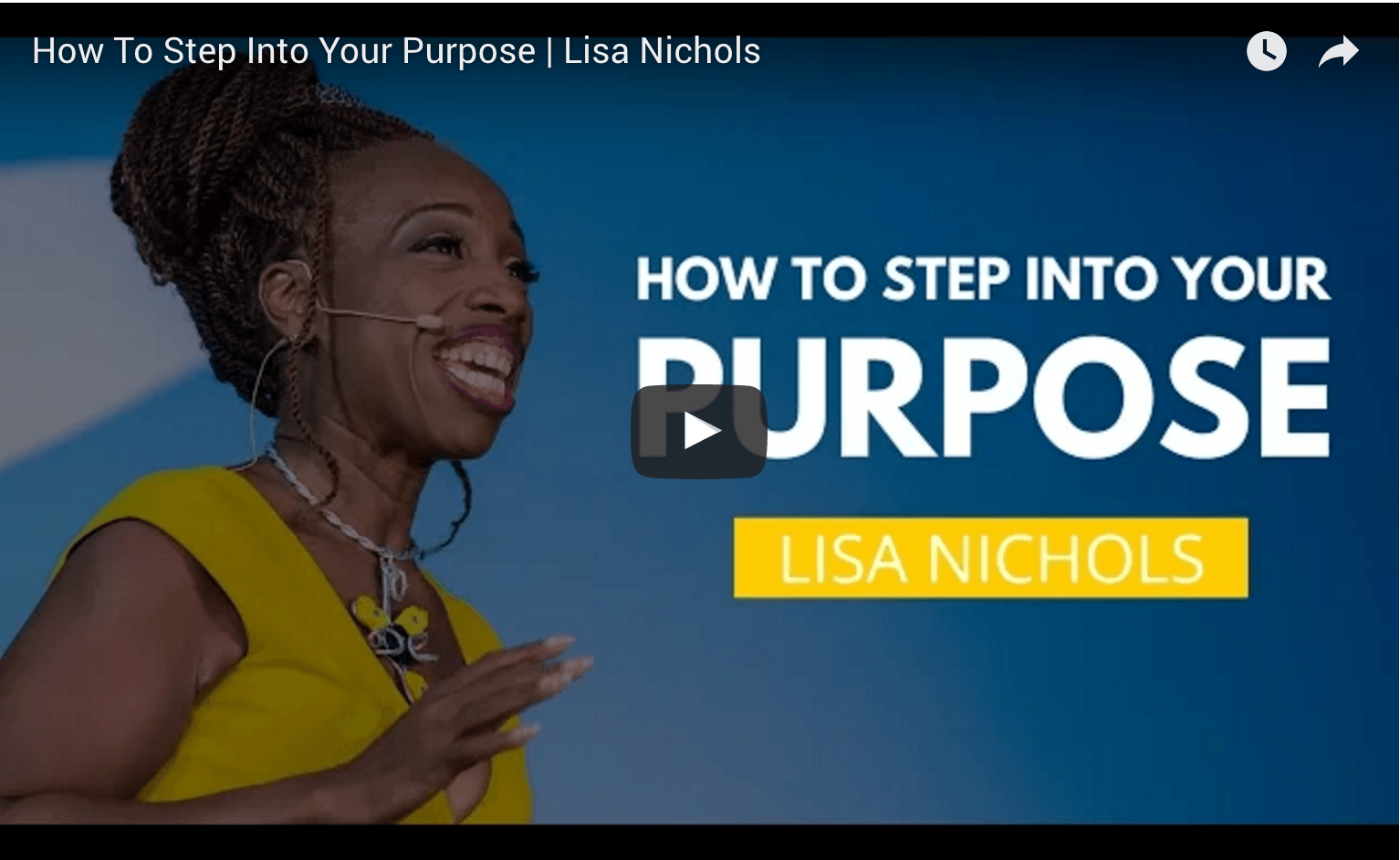 Lisa Nichols Video - How to Step into your Purpose