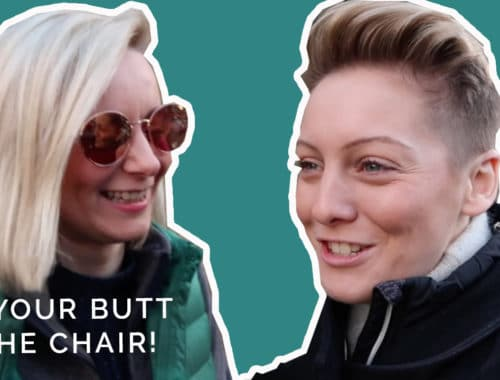 Sit your butt in the chair