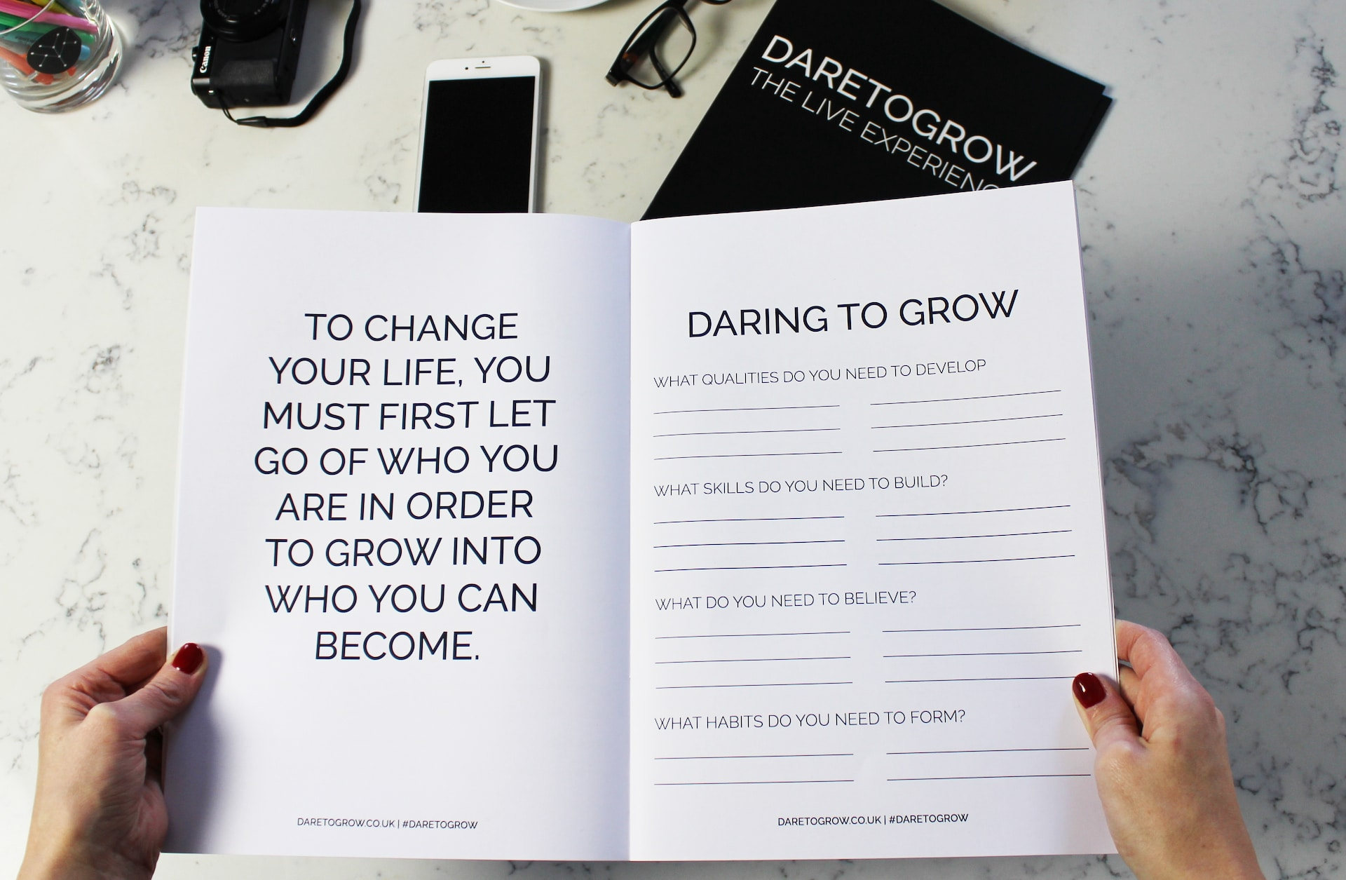DARETOGROW / The Live Experience - Workbook