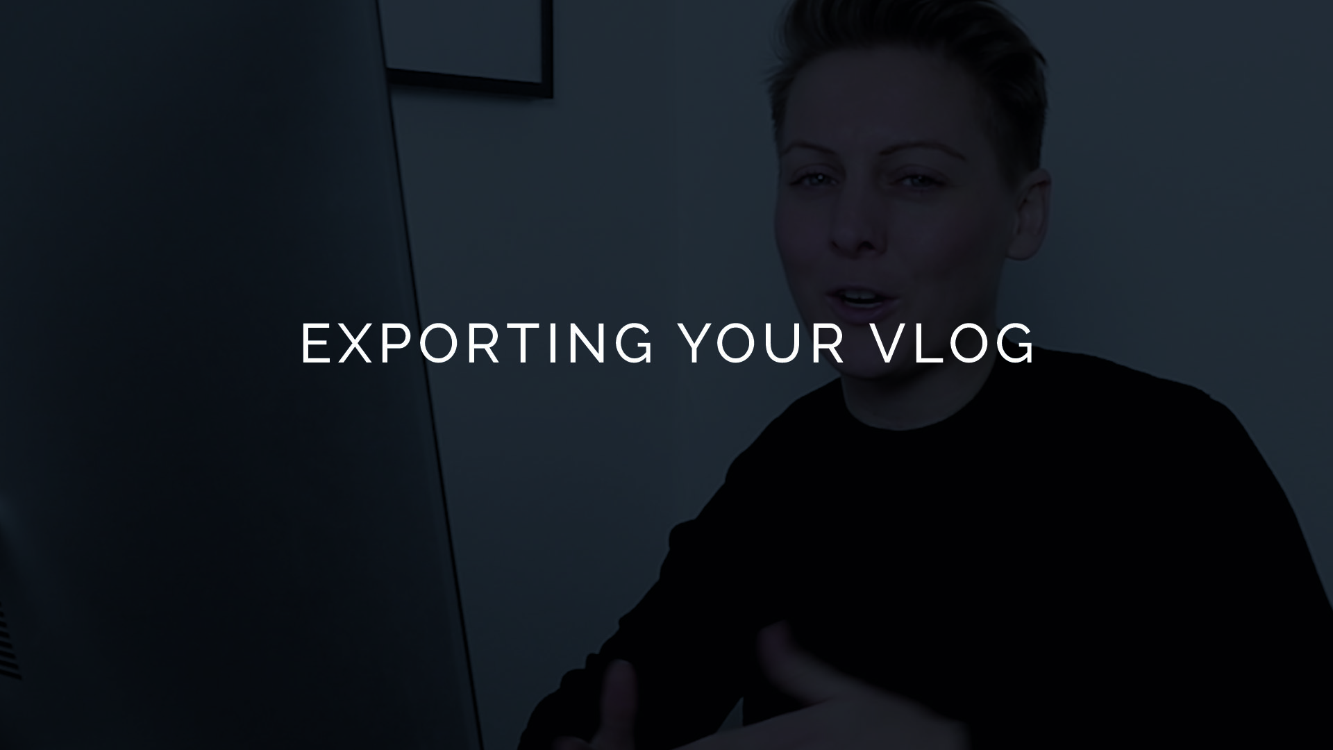 How to export a vlog in imovie
