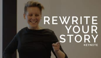 UK female keynote speaker - rewrite your story