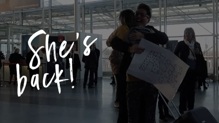 Vlog greeting GF at airport