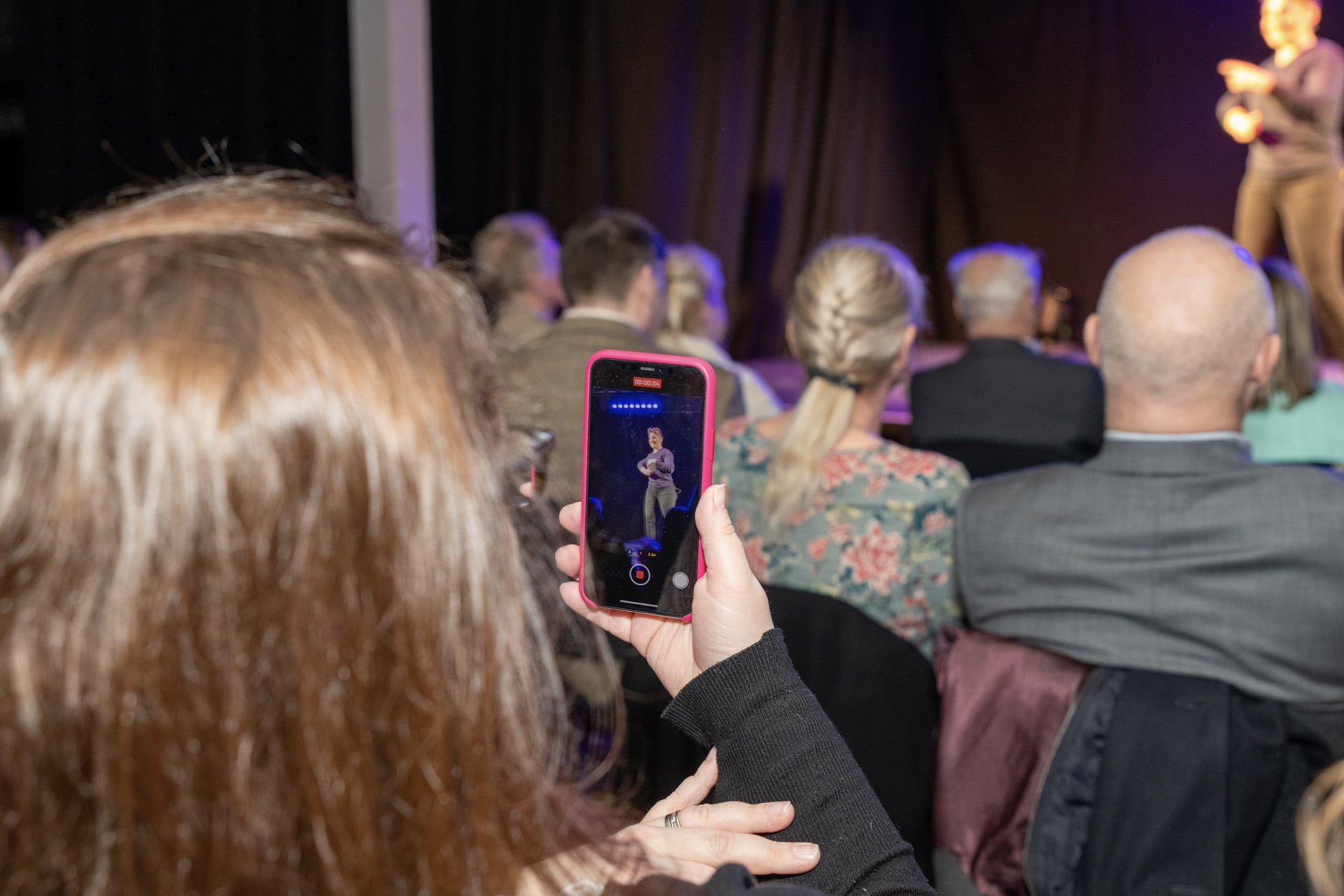 Lisa Bean caught on camera at book launch