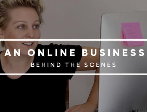 Behind the scenes of an online business video