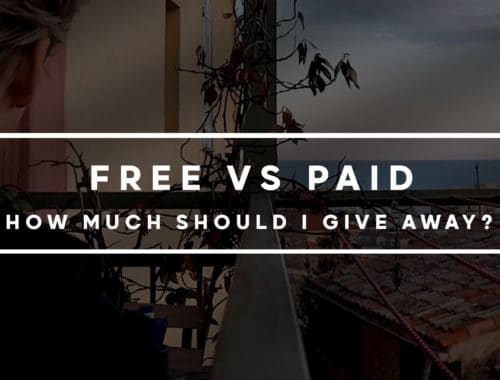 How much content should I give away for free