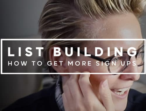 List building how to get more sign ups